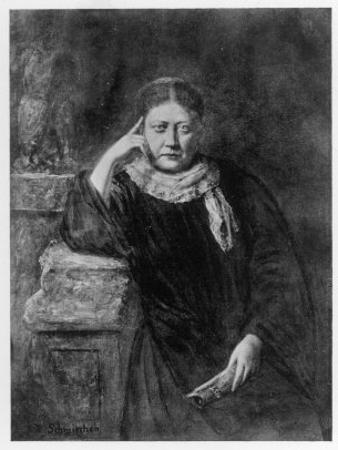 Helena Petrovna Blavatsky Russian Mystic Writer &C Circa 1889 by H. Schmiechen