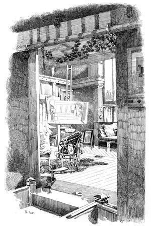 The Studio of Lawrence Alma-Tadema, C1880-1882