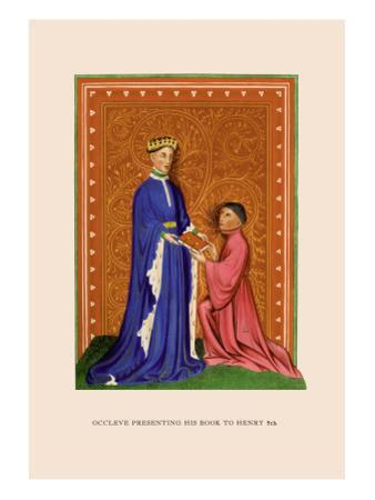 Occleve Presenting His Book to Henry V