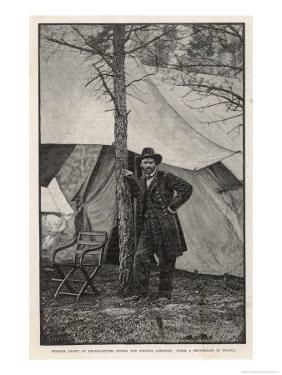 Ulysses S Grant American Civil War General at Headquarters During the Virginia Campaign by H^ Vetten