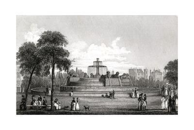 Paris, France - Chateau D'Eau and its Fontaine de Girard