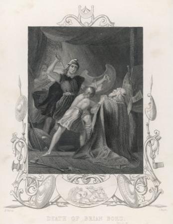 After the Battle of Clontarf Brian Boru is Killed by Brodar a Dane