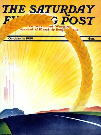 """Golden City,"" Saturday Evening Post Cover, October 14, 1939"