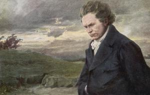 Ludwig Van Beethoven Beethoven out for a Walk on a Windy Day by H. Wulff
