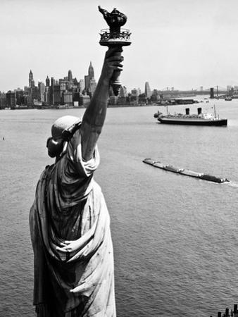 Statue Of Liberty And Upper New York Bay 1 by HA Dunne