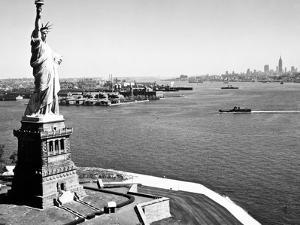 Statue Of Liberty And Upper New York Bay by HA Dunne