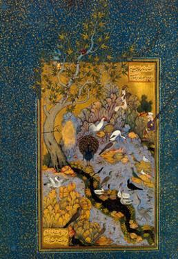 Folio from Mantiq Al-Tayr (The Language of the Bird) by Attar, Ca. 1600 by Habib Allah