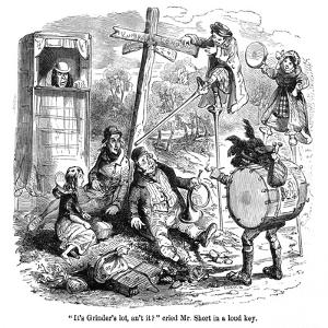 The Old Curiosity Shop, the Punch and Judy People by Hablot Browne