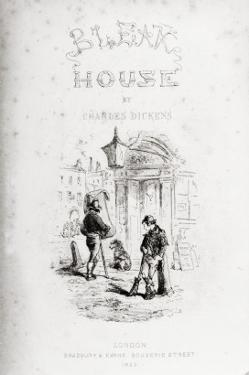 Title Page of 'Bleak House' by Charles Dickens by Hablot Knight Browne