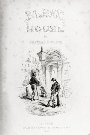 Title Page of 'Bleak House' by Charles Dickens