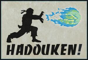 Hadouken Video Game Poster