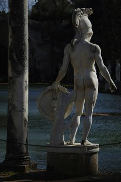 Hadrian's Villa, Statue in the Canopus, God Mars, 2nd Century, Italy