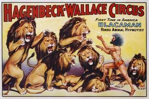 Hagenbeck-Wallace Circus Poster with Hindu Animal Hypnotist