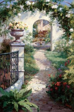Flowered Archway by Haibin