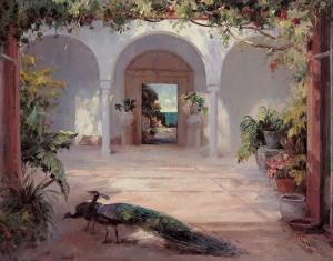 Sunlit Courtyard by Haibin