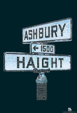 Haight and Ashbury Song Titles Text Poster