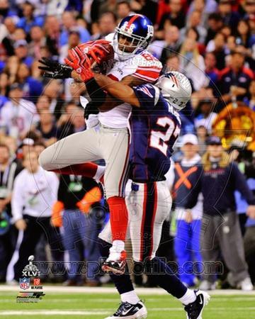 Hakeem Nicks Super Bowl XLVI Action