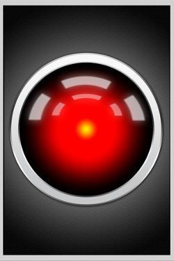 Hal 9000 Camera Eye Screen Movie Plastic Sign