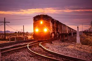 Freight Train at the Salton Sea by Hal Bergman Photography
