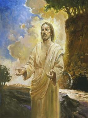 Jesus in Front of Cave by Hal Frenck