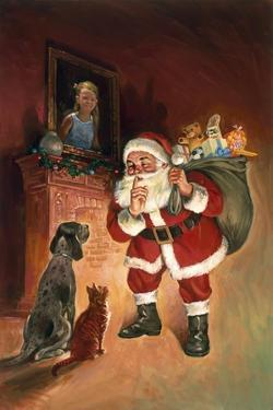 Santa and Family Pets by Hal Frenck