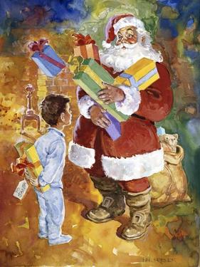 Santa Bearing Gifts by Hal Frenck