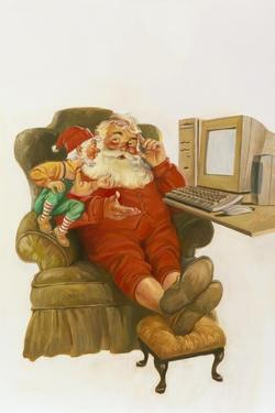 Santa Learning Computer by Hal Frenck