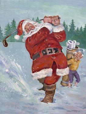 Snow Golfing Santa by Hal Frenck