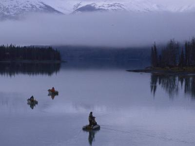 Three Fishermen at Kenai Lake, AK