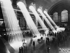 Sun Beams into Grand Central Station by Hal Morey