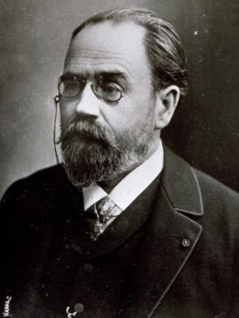 Half-Length Portrait of the Famous French Author Amile Zola