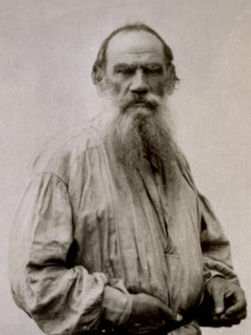 Half-Length Portrait of the Famous Russian Author Lev Nikolaevic Tolstoj