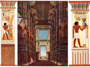 Hall of Columns in the Great Temple of Karnak, Egypt, 1933-1934