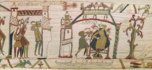 Halley's Comet and Harold Receiving Bad News, Detail from the Bayeux Tapestry
