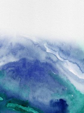 Abstract Blue Watercolor by Hallie Clausen