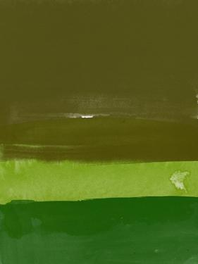 Abstract Olive Green by Hallie Clausen