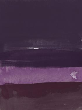Abstract Violet Watercolor by Hallie Clausen