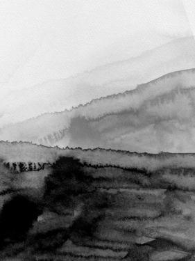 Black Mountains Watercolor by Hallie Clausen