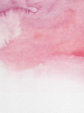 Blush Pink Abstract Watercolor II by Hallie Clausen