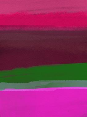 Dark Red Wine and Purple Abstract by Hallie Clausen