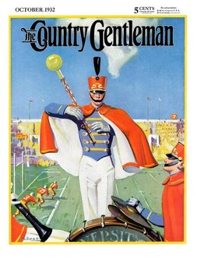 """Drum Major,"" Country Gentleman Cover, October 1, 1932 by Hallman"