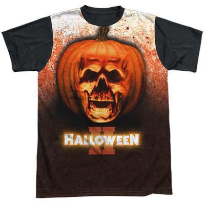 Halloween II- Pumpkin Skull Black Back