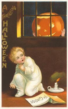 Halloween, Jack O'Lantern Looking in Window