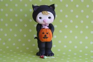 Halloween Kitty Girl