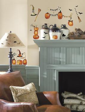 Halloween Pumpkins Peel and Stick Wall Decals