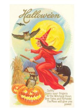 Halloween, Red Witch and Poem