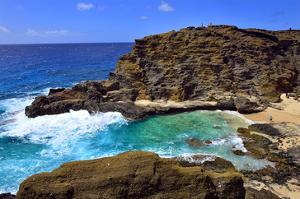 Halona Beach Cove, Island of Oahu, Hawaii, USA