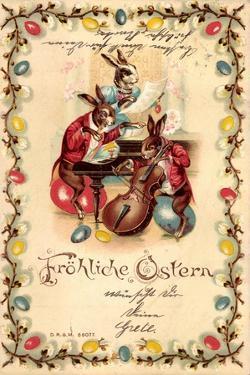 Halt Gegen Das Licht Glückwunsch Ostern, Hasen, Musik