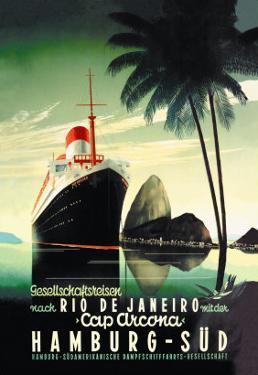 Hamburg to Rio de Janeiro on the Cap Arcona Steamship