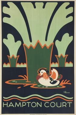 Hampton Court British Travel Poster